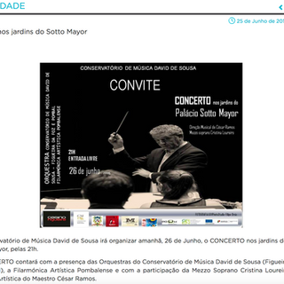 Concerto nos Jardins do Palácio Sotto Mayor, 2015