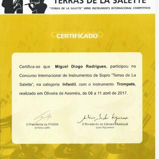 Certificado Miguel Diogo Rodrigues