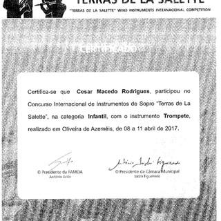 Certificado César Macedo Rodrigues