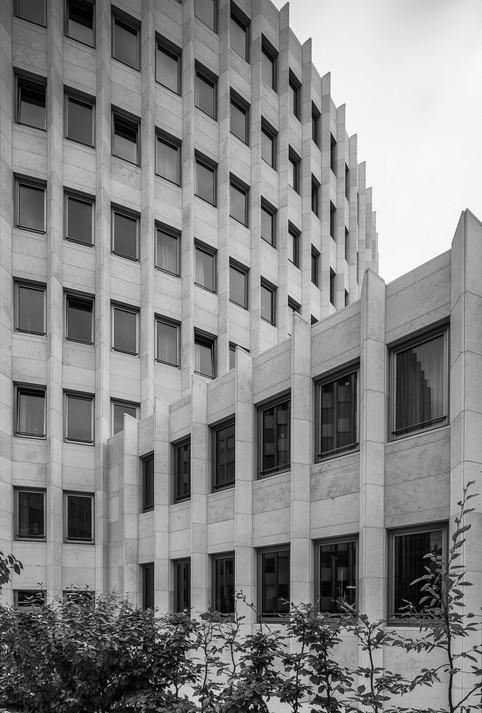 Architekturfotografie Köln-Mario Brand-Fassade des 25Hours Hotel im Gerling-Quartier