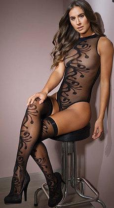 Girl Meets Swirl Teddy with Stockings