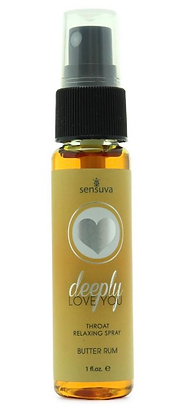 Deeply Love You Throat Relaxing Spray 1oz in Butter Rum