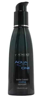 Aqua Chill Cooling Water Based Lube in 4oz/120ml