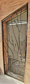 סורגים חלון גדול סורגי ברזל עבודת יד נפח