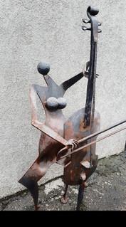 Cello Iron Art Iron blacksmith sculpture