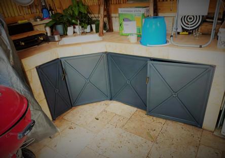דלתות ברזל מסיביות למטבח חוץ בית פרטי יפ