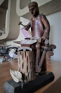 פסל נפחות ברזל אמנות ברזל