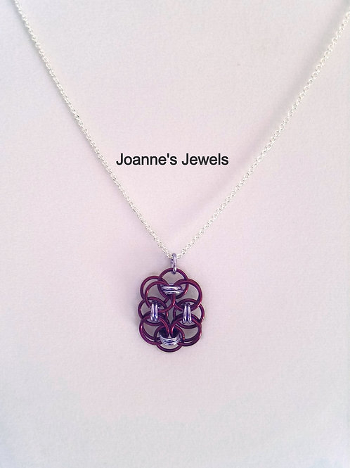 Purple and Lilac Elongated Roses of Success Pendant