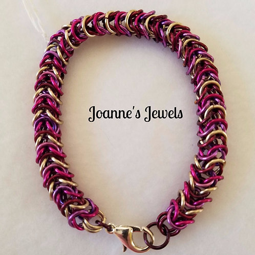 Box Weave Chain Maille Bracelet
