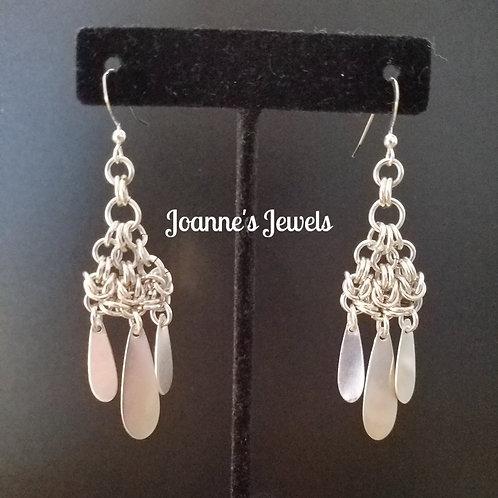 Sterling Silver Byzantine Teardrop Earrings