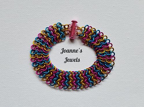European 4-in-1 Weave Bracelet with Slide Clasp