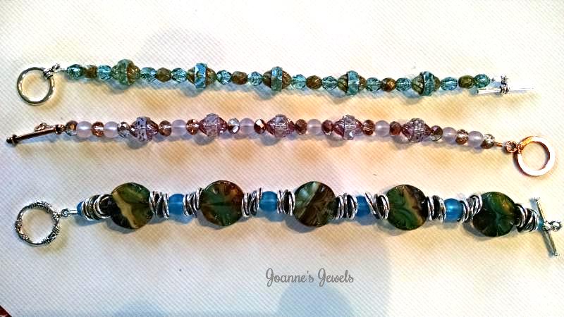Joanne's Jewels Czech Bead Sea Glass Bracelets_edited