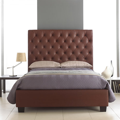 Windsor Burgundy Faux Leather Bedstead