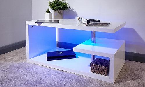 Astana LED Coffee Table White High Gloss