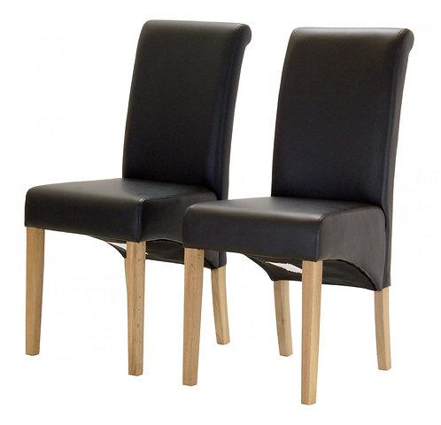 Havanna PU Chair Solid Oak Leg