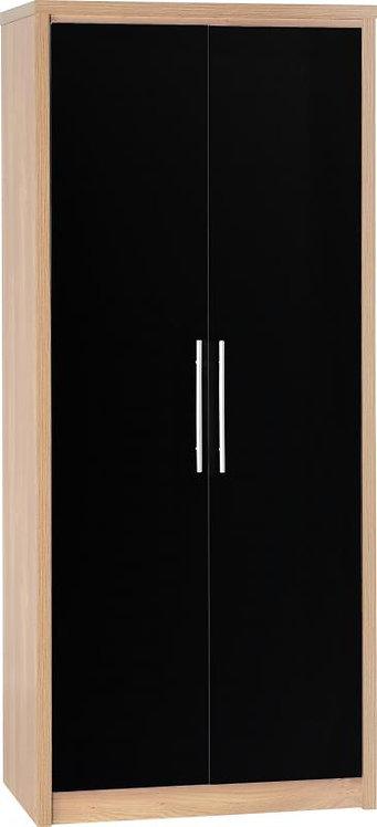 Seville 2 Door Wardrobe with High Gloss Doors