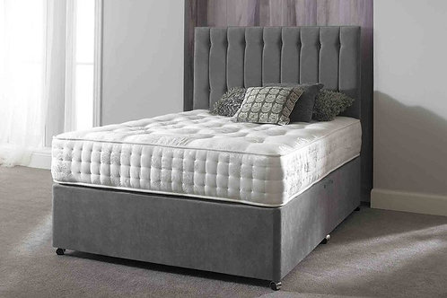 Small Double PisaTufted Divan Bed + Mattress