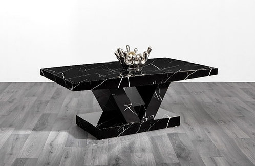 Soni Marble Effect Coffee Table (Black)