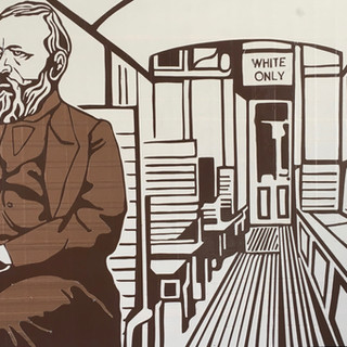 "1892 Homer Plessy challenges laws of racial separation on trains,  Supreme Court affirms ""separate but equal"" validating Jim Crow"