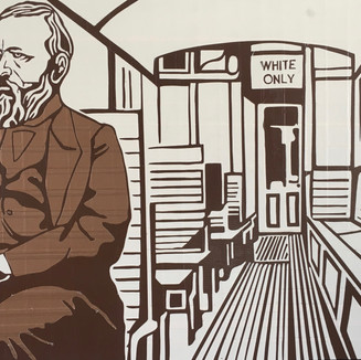 """1892 Homer Plessy challenges laws of racial separation on trains,  Supreme Court affirms """"separate but equal"""" validating Jim Crow"""