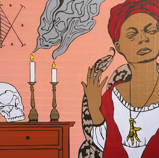 1871 Marie Laveau conducts enormous voodoo rituals on Bayou St John