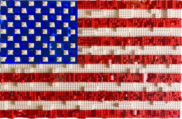 LEGO American Flag
