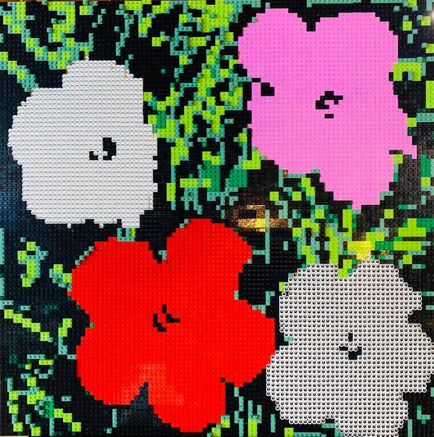 LEGO Warhol Eyeball Flowers