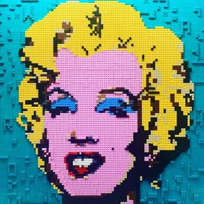 LEGO Warhol Marilyn