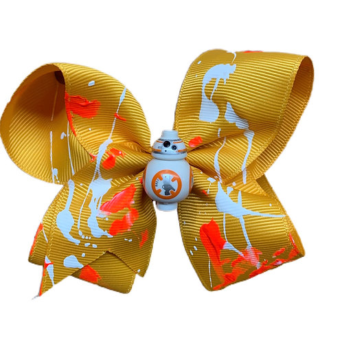 NEW! DROID ORANGE HAIR BOW
