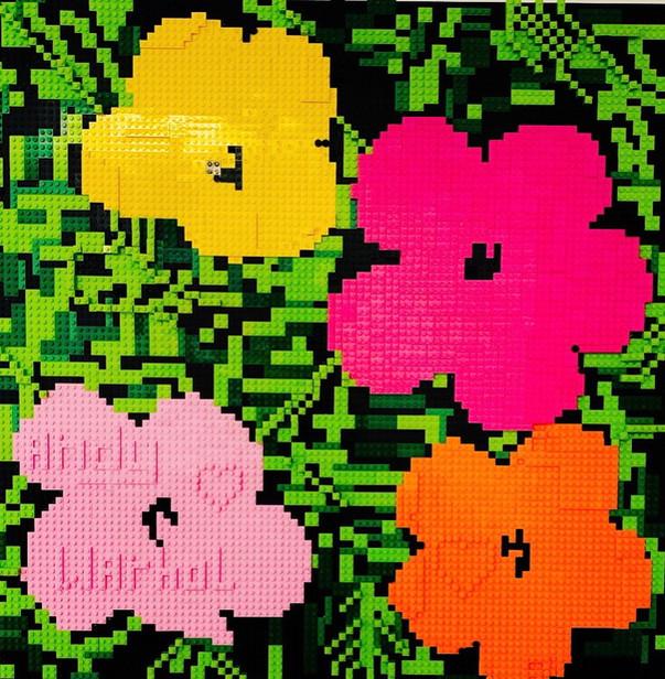 LEGO Warhol Flowers