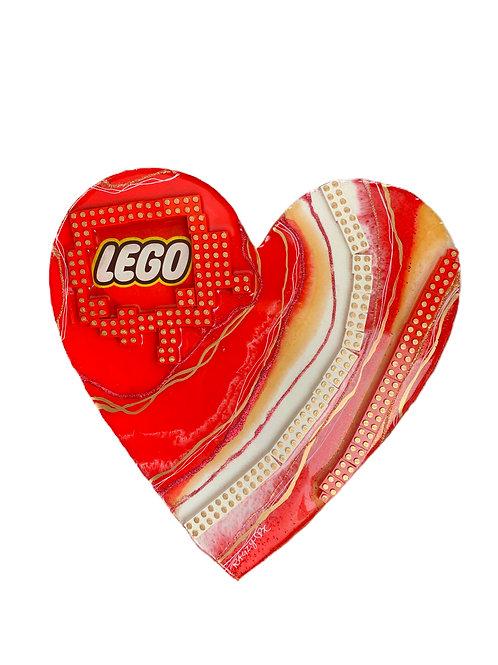 """She Loves LEGO 14""""X14"""""""