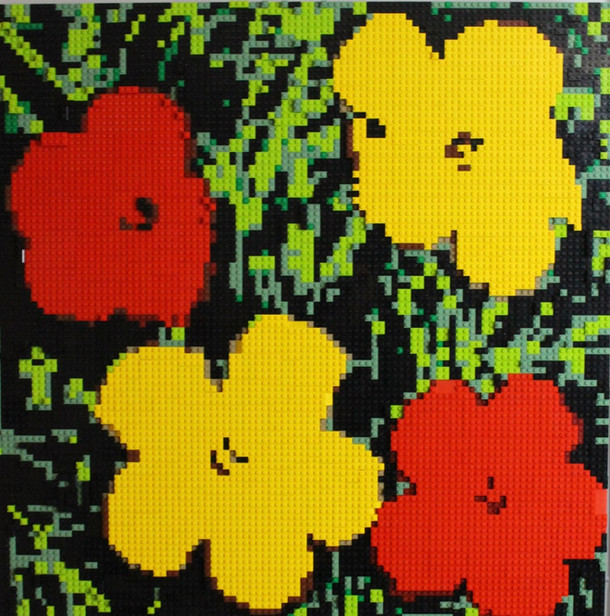 LEGO Warhol Flowers Red and Yellow
