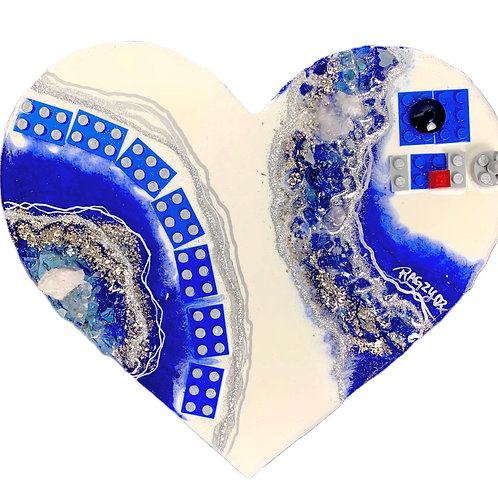 "Droid 8X10"" LEGO GEODE Heart"