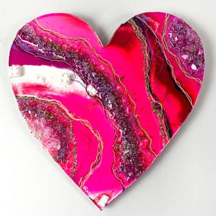 Rose Quartz LEGO Heart Geode