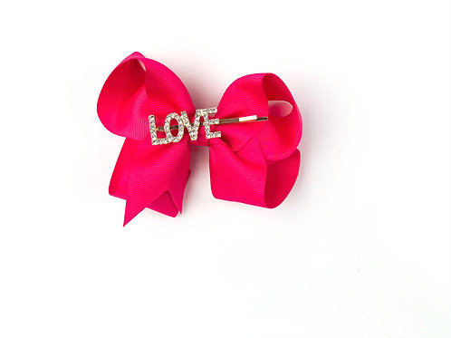 Jessica LOVE Bow Hot Pink