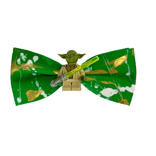 NEW! GREEN LIGHT SIDE BOW TIE