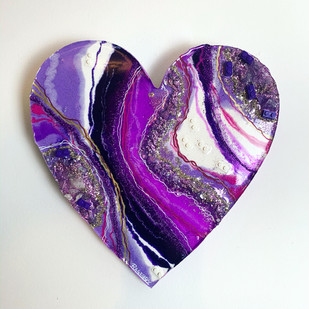 LEGO Amethyst Geode Heart
