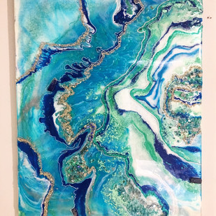 Turquoise Water Geode