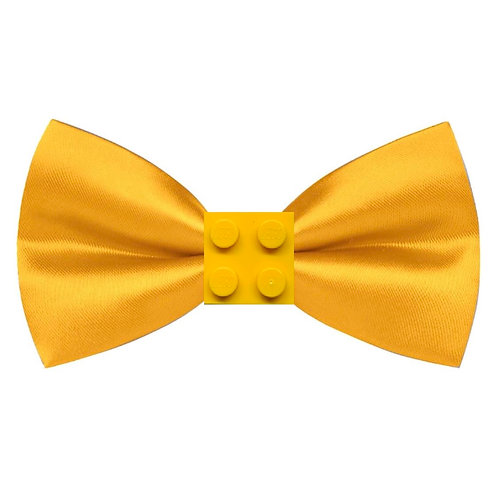 Men's Yellow BRICK Studded Bowtie