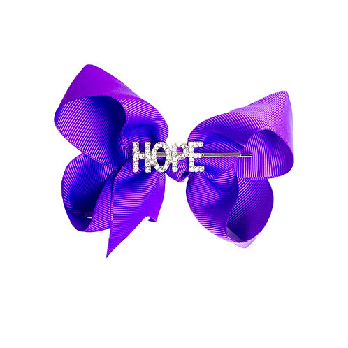 NEW! Jessica HOPE Bow DARK PURPLE