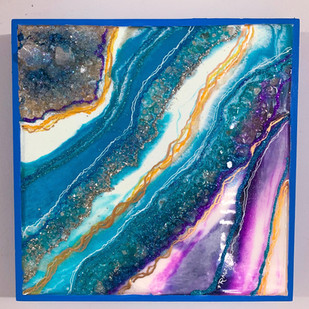 Peacock Quartz Crystal Geode