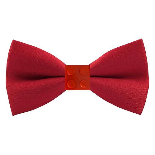 Men's Red BRICK Studded Bowtie