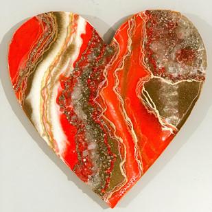 Citrine Geode Crystal Heart