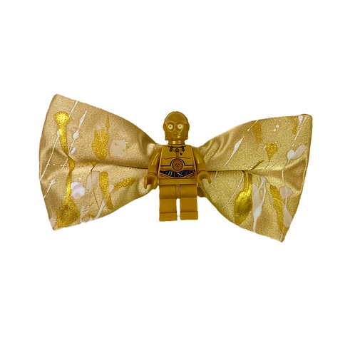 NEW! GOLD DROID BOW TIE