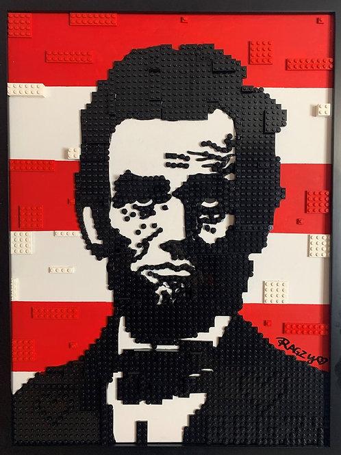 """LEGO Lincoln 18"""" X 18"""" by Jessica Ragzy Ewud"""