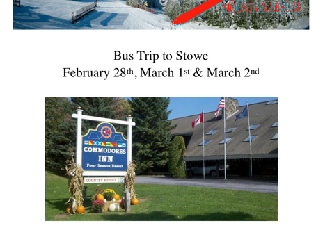 Bus Trip to Stowe, VT!