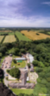 The Dream at Sutton Manor Bold Forest Park part of the Mersey Forest, aerial image by Steve Samosa Photography