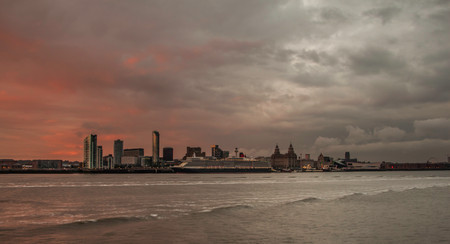 Cunards Queen Elizabeth Liverpool