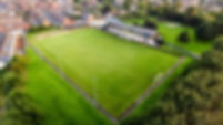 Prescot Cables Football Club from above, aerial image by steve samosa photography