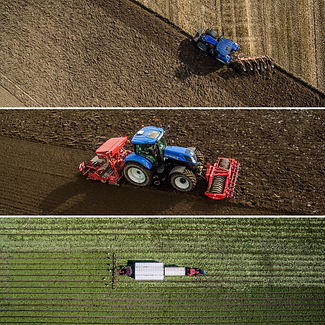 Aerial images of tractors working on the farm by Steve Samosa Photography